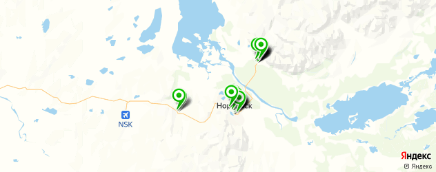 массажные салоны на карте Норильска