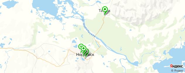 химчистки на карте Норильска