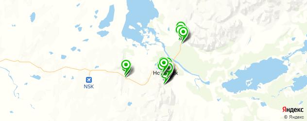 магазины запчастей на карте Норильска