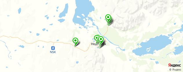 автомойки на карте Норильска