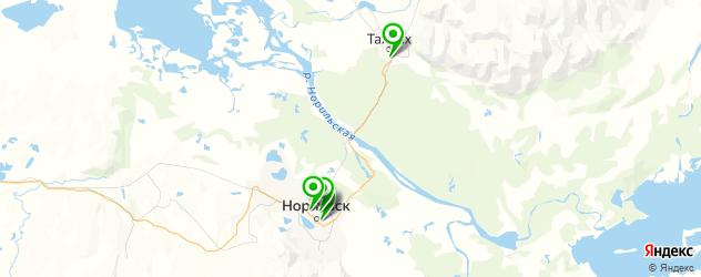 диагностические центры на карте Норильска