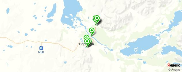 магазины шин и дисков на карте Норильска