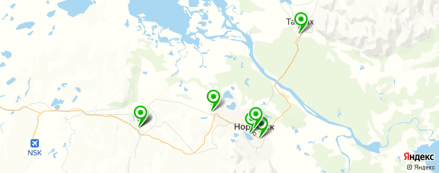 пекарни на карте Норильска