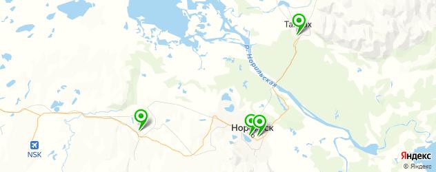 бассейны на карте Норильска