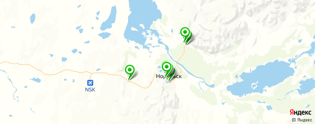 ювелирные мастерские на карте Норильска