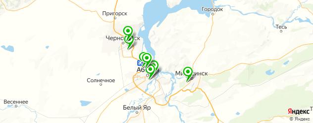 автостоянки на карте Абакана
