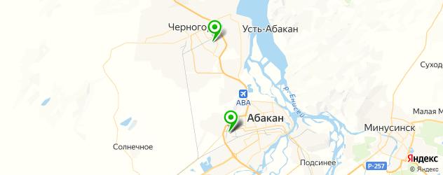 пекарни на карте Абакана