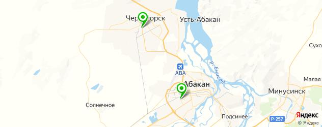 стадионы на карте Абакана