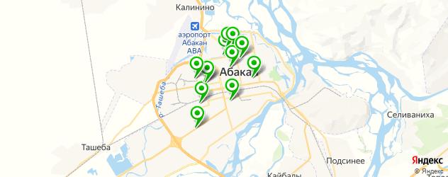 Доставка шашлыка на карте Абакана