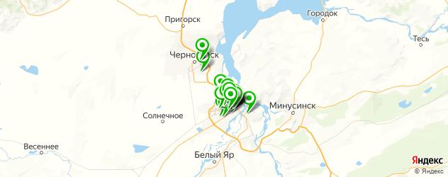 типографии на карте Абакана