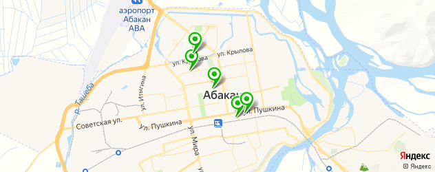 прачечные на карте Абакана