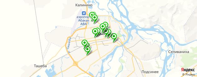 женские фитнес-клубы на карте Абакана