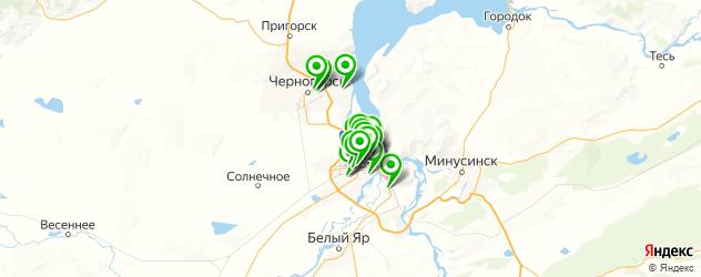бары на карте Абакана