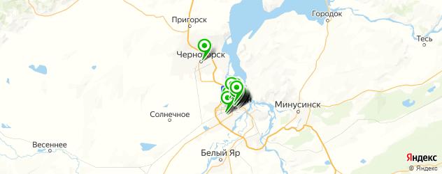 бесплатный Wi-Fi на карте Абакана