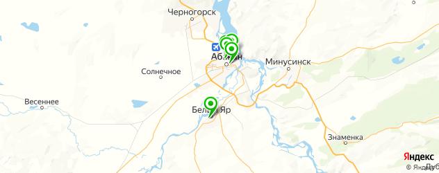 ночные клубы на карте Абакана