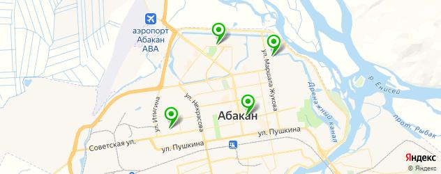 японские рестораны на карте Абакана