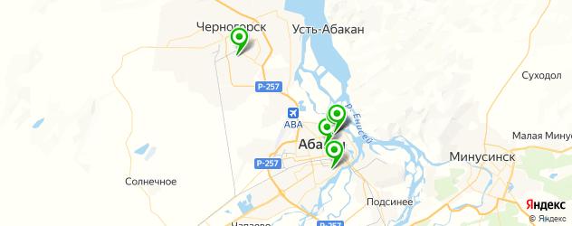 сервисы ВАЗ на карте Абакана
