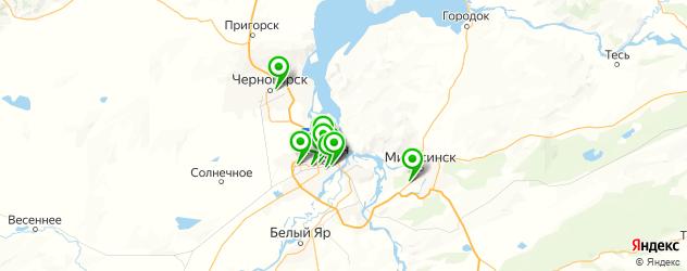 Доставка пиццы на карте Абакана