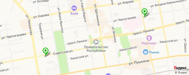 экскурсии на карте Абакана