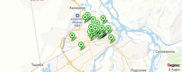 компьютерные помощи на карте Абакана