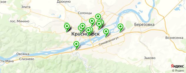обучение охранников на карте Красноярска