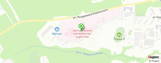 детский логопед на карте Красноярска