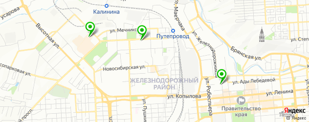 микротоки на карте Красноярска