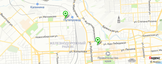 электролиполиз на карте Красноярска