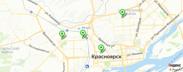 контурная пластика на карте Красноярска