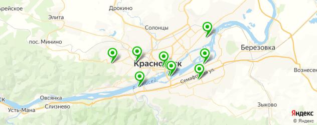стадионы на карте Красноярска
