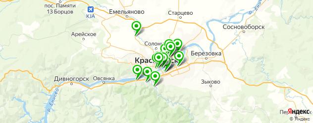 вегетарианские рестораны на карте Красноярска