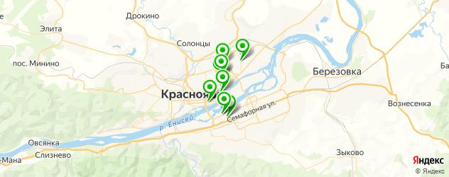 боулинги на карте Красноярска