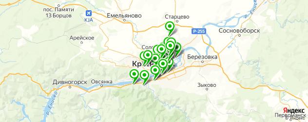 детские развлекательные центры на карте Красноярска