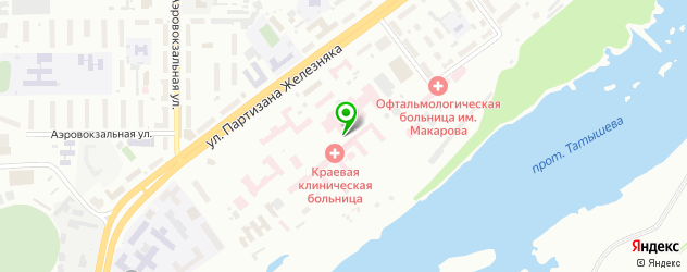 ожоговые центры на карте Красноярска