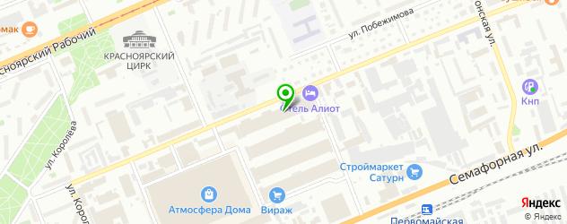 скалодромы на карте Красноярска