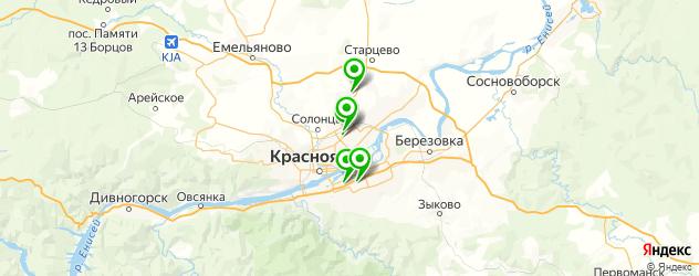 ателье штор на карте Красноярска