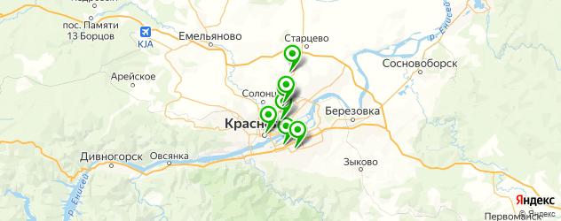 ремонт молний на куртках на карте Красноярска