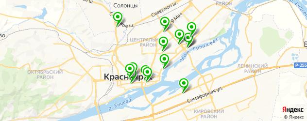японские рестораны на карте Красноярска