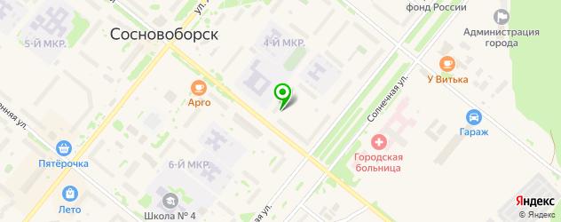 дома быта на карте Сосновоборска