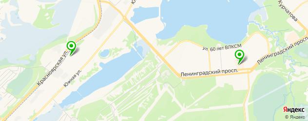 медицинские центры на карте Железногорска
