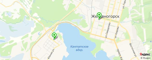 Доставка пиццы на карте Железногорска