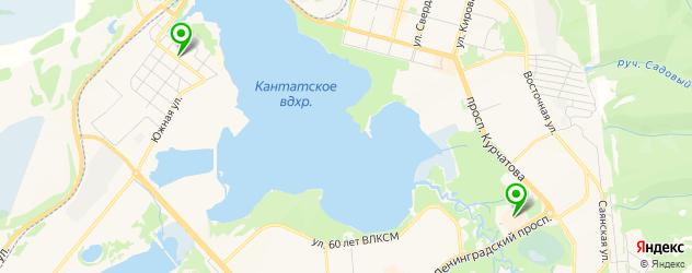 пиццерии на карте Железногорска