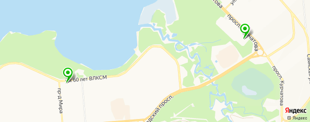 курсы на карте Железногорска