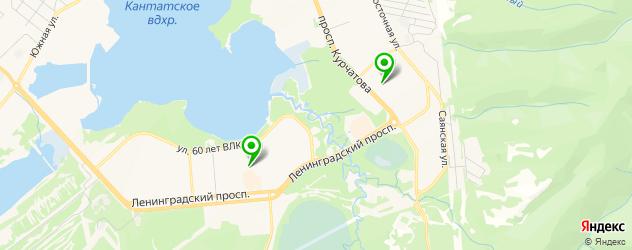 культурные центры на карте Железногорска