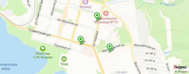 ВУЗы на карте Железногорска