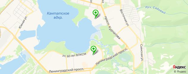 спортивные школы на карте Железногорска
