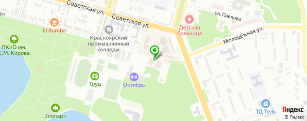 бильярдные клубы на карте Железногорска
