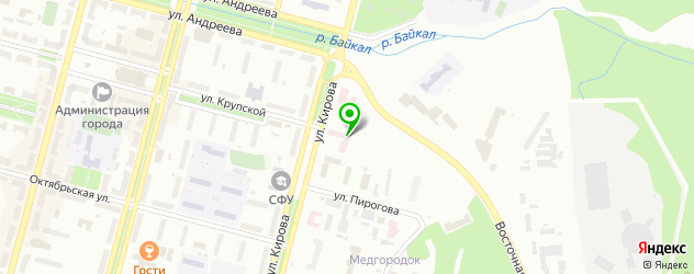 женские консультации на карте Железногорска