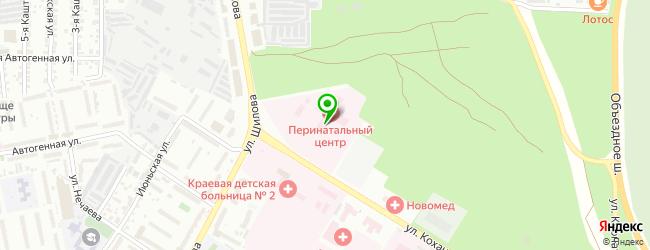 Забайкальский краевой перинатальный центр — схема проезда на карте