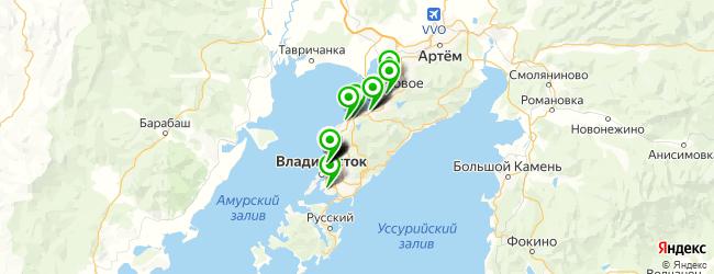 детские больницы на карте Владивостока